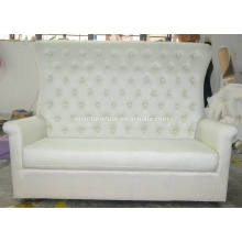White linen high back wedding sofa XYN75