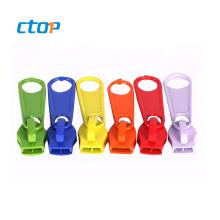 Custom colorful nice high grade luggage metal zipper slider zipper puller slider