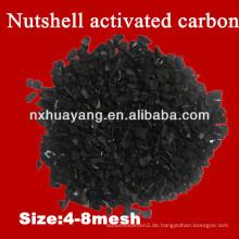 Huayang HY50 1000mg / g Jodzahl granulierte Nussschale Aktivkohle