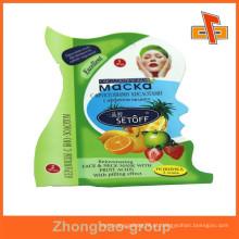 Guangzhou Vendedor Lamimated material personalizado impresso plástico bolsa em forma de produtos de cuidados da pele