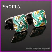 VAGULA qualité émail Gemelos boutons de manchettes (HL10135)