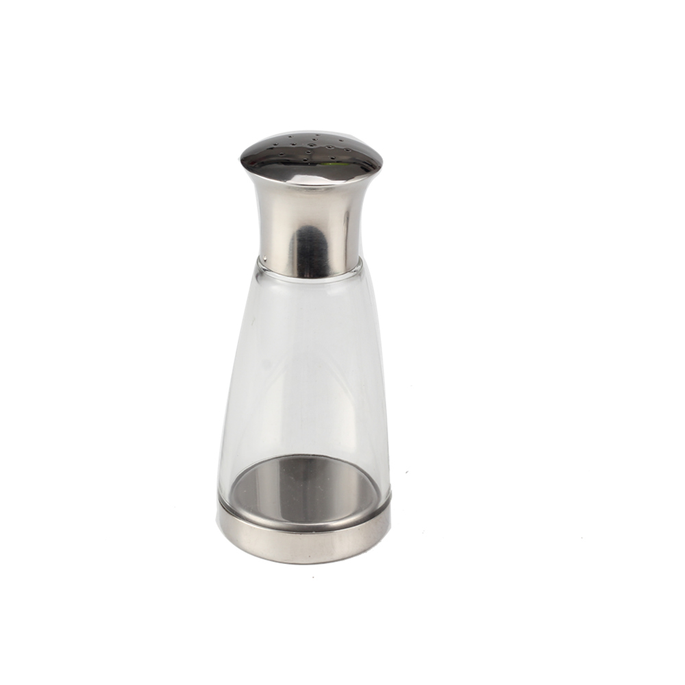 Newdesign Glass Andstainless Steel Salt Shakerset Suitable Forbbq