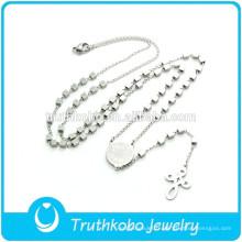 TKB-N0013 Chaîne en forme de chaîne de bijoux St Benoît et crucifix creux pendentif European Prayer CSPB porte-bonheur collier