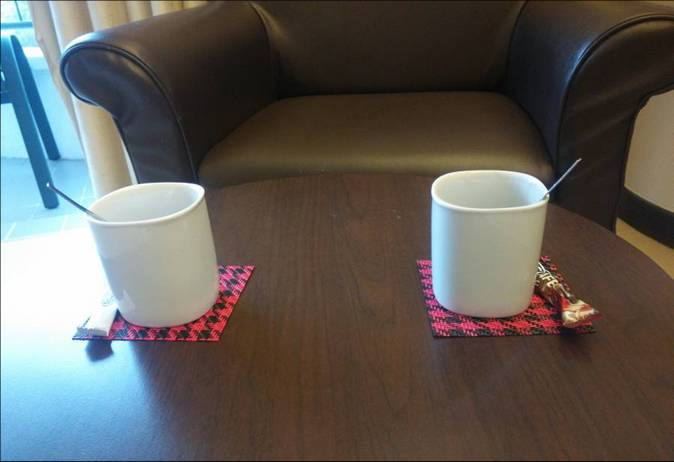 Hotel restaurants cafes with square round PVC cup mat4