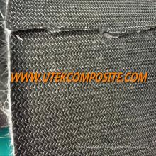 Fibra de vidrio con respaldo de fibra de carbono para el canal de cable