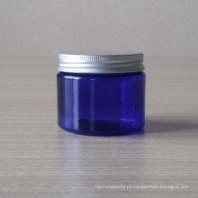 Frasco cosmético do frasco claro azul do animal de estimação de 100g