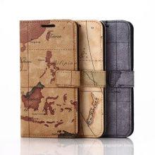 Роскошные карты дизайн кожа мобильный телефон Чехол для Samsung С6