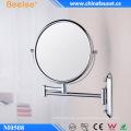 Espejo de pared de maquillaje flexible con marco Beelee