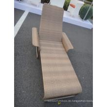 Moderne Chaise Lounge mit Sonnenterrasse Stuhl Rattan Indoor