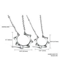 Moda jóias conjuntos prata de colar brincos para mulheres, jóias em aço inoxidável mestres sol define mulher