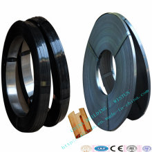 Blue/Black Wax Coated Flat Steel Packaging Straps Band, Packing Clasp
