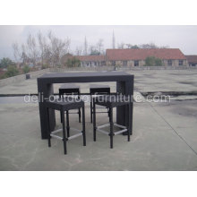 Black Color Tent Rattan Bar Furniture