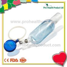 Bouteille de désinfectant à main vide avec anneau de silicone (pH009-067A)