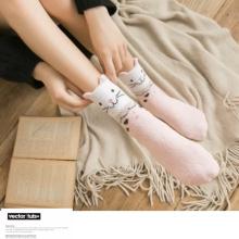 пушистые носки для девочек