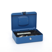 Portable metal high quality storage cash box with cylinder lock with 2keys