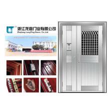 Puerta de acero inoxidable para apartamento de diseño plano (LTSS-6006)