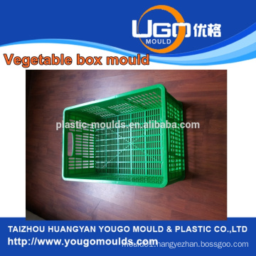 Taizhou mould factory for plastic injection crate basket mould