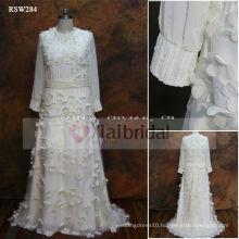 RSW284 Chiffon Wedding Dress Long Sleeve