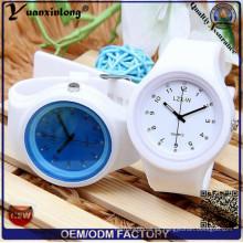 Yxl-995 Creative Candy color de silicona goma de gelatina de gel de cuarzo Relojes Mujer linda analógica reloj de pulsera de deportes