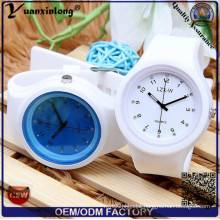 Yxl-995 Creative Candy Color Silicone Rubber Jelly Gel Quartz Watches Women Cute Analog Sports Wrist Watch