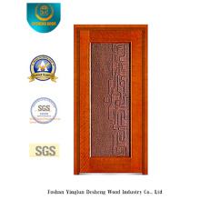 Goldene Farbe Sicherheit Stahltür für Eingang (b-8001)