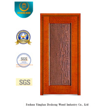 Porta de aço de segurança de cor dourada para entrada (b-8001)