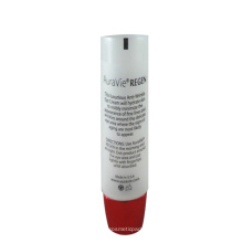 D25mm transparent eye cream tube with plating oval cover