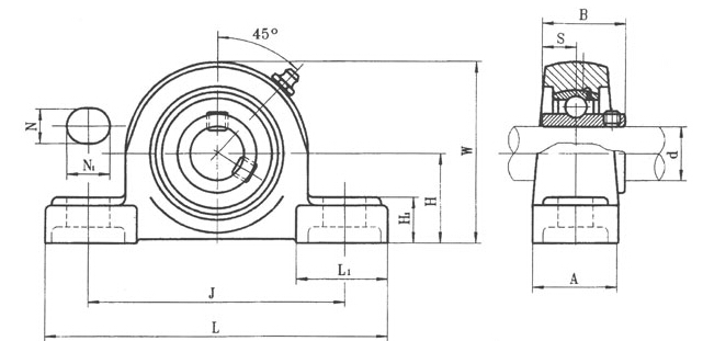 pillow Block Bearing UCP200 Series