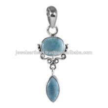 Últimas Designer Larimar 925 Sterling Silver Pendant Jewelry