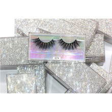 HL06H Hitomi eyelash box custom logo natural looking double layer 3D Faux Mink Eyelashes Packaging Eye Lashes With High Quality