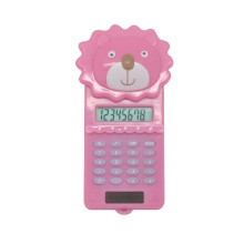 8 Digits Cartoon Animal Slide Portable Calculator