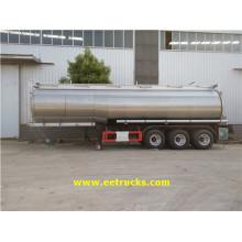 3 Axle 34000L Hydrogen Peroxide Tank Trailers