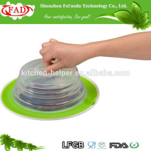 High Quality Wholesale Factory Direct Price Food Grade Suction Silicone Plate Topper Lid