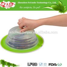 Alta qualidade por atacado fábrica de preço direto de alimentos de grau de sucção de silicone tampa da placa de topper