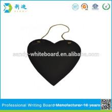 No framed slate blackboard heart design