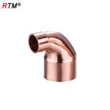 L 17 4 11 encaixe de tubulação de refrigeração de cobre acessórios de cobre vermelho reta acoplamento de tubulação de gás cotovelo