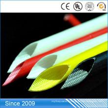 La résistance de RoHS a enduit la tuyauterie résistante à la chaleur enduite par fibre de verre enduite de résine approuvée de silicone