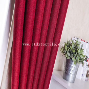 Linen like blackout curtain fabric