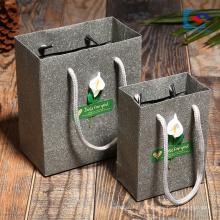 Sacos de embalagem de papel de beleza personalizado com alça torcida