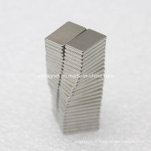 L14X8X2mm N42 Produits électriques Utiliser Rectangle Durable Aimant permanent