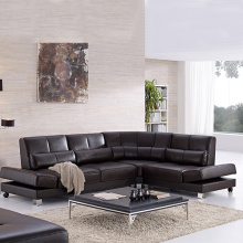 3-Pieces Leather Sectional Sofa Set With Chaise