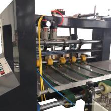 Automatic straight-line box folding gluing machine