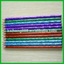 Redonda de madeira cor lápis com borracha atóxica & aguçar