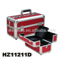 high quality aluminum cosmetic case with trays inside manufacturer