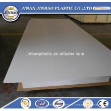 hoja plástica rígida blanca de alta calidad del pvc de la fábrica de China