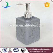 Dispensador de loción cerámica de diseño de piel de mármol de lujo