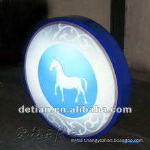 acrylic lighting showcase with led light for display exhibition booth