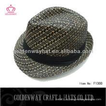 Рекламная бумага Соломенная шляпа с полосатой оптовой шляпой для гольфа