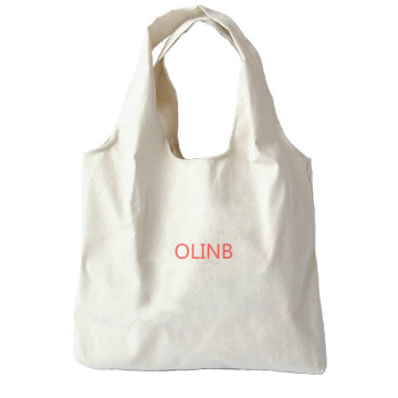 Impresión personalizada Eco Canvas Tote Bag Shopping