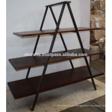 Mostrador de madera industrial del metal